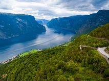 Beautiful Nature Norway - Sognefjorden. Beautiful Nature Norway. The Sognefjorden lake Royalty Free Stock Photo