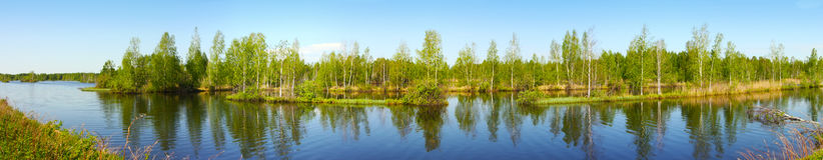 Beautiful nature, panoramic scenery stock photos