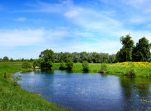 Beautiful nature, panoramic scenery Royalty Free Stock Photo