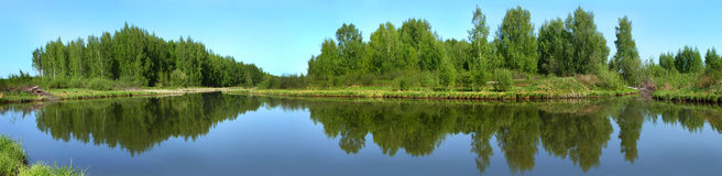 Beautiful nature, panoramic view. River Norochta Stock Photo