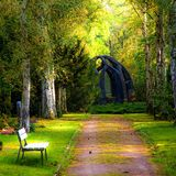 Beautiful nature in the park stock photos