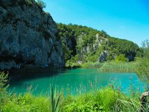 Beautiful nature in Plitvice lakes national Park in Croatia royalty free stock images