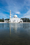 Tengku Tengah Zaharah Mosque, most iconic floating mosque located at Terengganu Malaysia Stock Photos