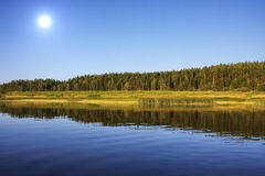 Beautiful nature on the river Chusovaya. In the Perm region, Russia Stock Photography