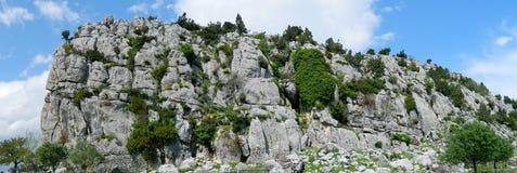 Beautiful nature rocky cliff panorama landscape royalty free stock image