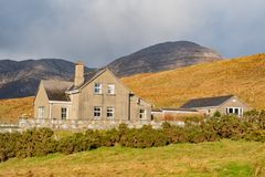 Beautiful nature scene with a house around Connemara National Park