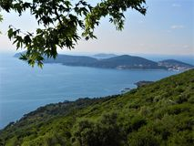 Beautiful nature & sea & islands view. Princes islands, in the Sea of Marmara Stock Images
