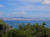 Beautiful nature & sea view. Princes islands, in the Sea of Marmara stock photos