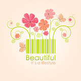 Beautiful nature style, vector illustration Royalty Free Stock Images