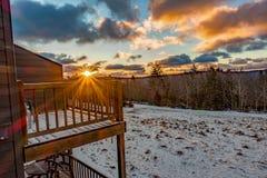 Beautiful Nature Sunrise At Snowshoe West Virginia Ski Resort Royalty Free Stock Photos