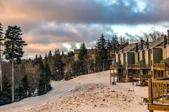 Beautiful Nature Sunrise At Snowshoe West Virginia Ski Resort Stock Photos