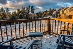 Beautiful Nature Sunrise At Snowshoe West Virginia Ski Resort Stock Photo