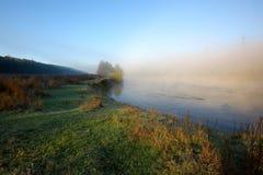 Beautiful Nature Sunrise Foggy Landscape Royalty Free Stock Photos