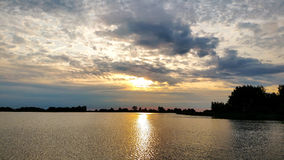 Beautiful Nature of Sunrise Over the Lake Royalty Free Stock Photography