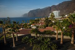 Tenerife and Los Gigantes, landscape. stock photo