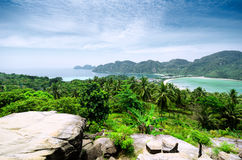 Tropical landscape. Phi-phi island, Thailand Stock Photography