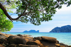 Tropical landscape. Phi-phi island, Thailand Stock Images