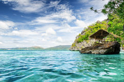 Tropical seashore. Palawan province, Philippines Royalty Free Stock Images