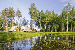 Beautiful nature view with houses Stock Photography