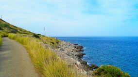 Beautiful nature on the way to Mondello Europe Royalty Free Stock Photos