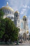 The beautiful Naval Cathedral of Saint Nicholas in Kronstadt, Saint Petersburg, Russia Royalty Free Stock Image
