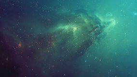 Beautiful Nebula in Outer Space stock footage