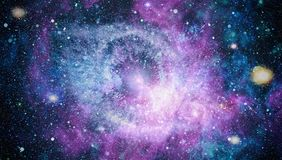 Beautiful nebula, stars and galaxies. Elements of this image furnished by NASA. Nebula and galaxies in space. Elements of this image furnished by NASA Stock Photography