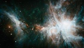 Beautiful nebula, stars and galaxies. Elements of this image furnished by NASA. Nebula and galaxies in space. Elements of this image furnished by NASA Stock Photography