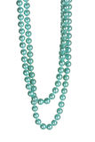 Beautiful necklace of blue pearls royalty free stock image