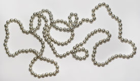 Beautiful necklace and bracelet made of pearls Stock Image