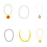 Beautiful Necklace Collection Royalty Free Stock Photo