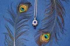 Beautiful necklace, handmade royalty free stock image