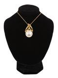 Beautiful necklace with pearl on mannequin Royalty Free Stock Photos