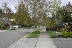 Beautiful neighborhood houses royalty free stock photos