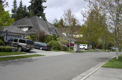 Beautiful neighborhood houses Royalty Free Stock Photography