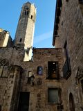 The streets of Gothic Quarters Barcelona royalty free stock image