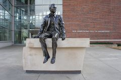 The beautiful Neil Armstrong Hall of Engineering of Purdue Unive Royalty Free Stock Images