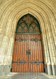 Beautiful neo-gothic style enterance to a cathedral Royalty Free Stock Photo