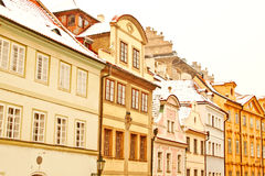 Beautiful Nerudova street in Prague Royalty Free Stock Image