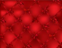 Beautiful net made from silk red bows. Beautiful net made from silk red realistic bows. Vector illustration stock illustration