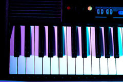 Beautiful new baby grand piano keyboard Royalty Free Stock Photography