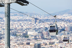 Beautiful new cableway Royalty Free Stock Image