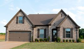 Beautiful New Construction Home For Sale. Beautiful Brand New Home on the Housing Market  in Bartlett, TN Stock Photo