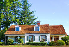 Beautiful New Home. New home on sunny day stock photography