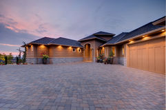 Beautiful New Home stock photos