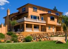 Beautiful new house. With balcony Stock Photo