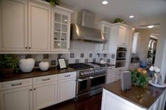 Beautiful new kitchen stock photography