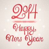 Beautiful New Year card 2014 Royalty Free Stock Photos