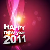 Beautiful new year design. Vector new year glowing design stock illustration