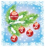 Beautiful New Year's background. Vector Stock Photography